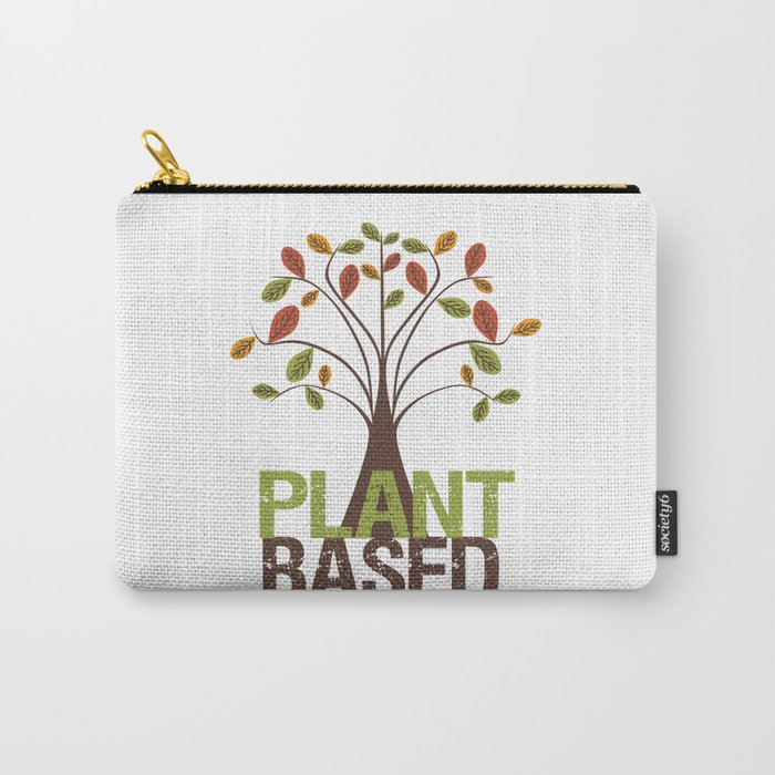 Plant Based Fall Tree Carry-All Pouch