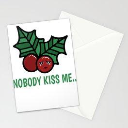 Mistletoe Kiss Single Dating Christmas Gift Stationery Cards