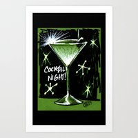 martini Art Prints featuring Martini  by David Miley