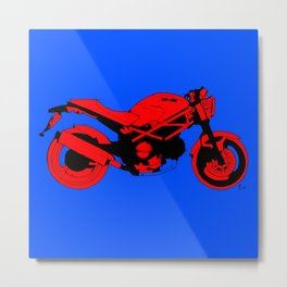 Red motorcycle for bike lovers Metal Print