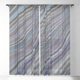Wild Wavy Lines 40 Sheer Curtain