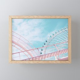 Pastel funfair 2 Framed Mini Art Print