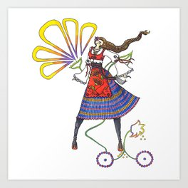 Folk Dancer Art Print