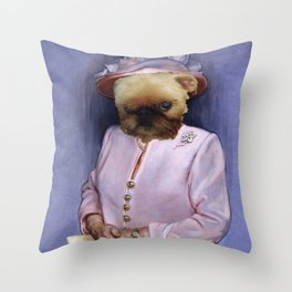 Dogs with Hands- The Queen Throw Pillow