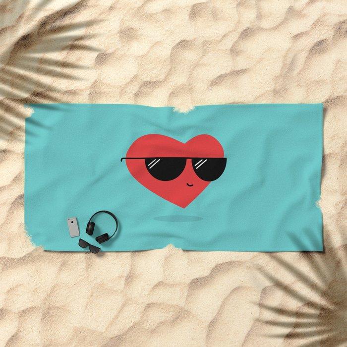 Cool Heart Beach Towel