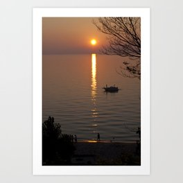 Lonely Michigan Sunset Art Print