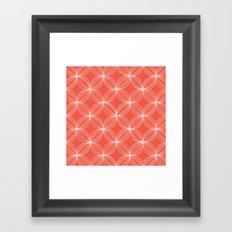 Star Pods - Coral Framed Art Print