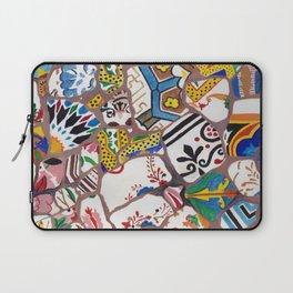 Gaudi tiles Barcelona Laptop Sleeve