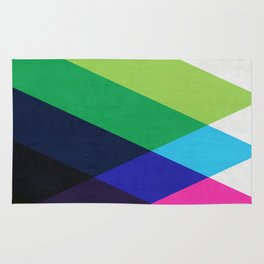 Colorful and vibrant triangles Rug