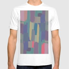 Abstract Painting II White Mens Fitted Tee LARGE