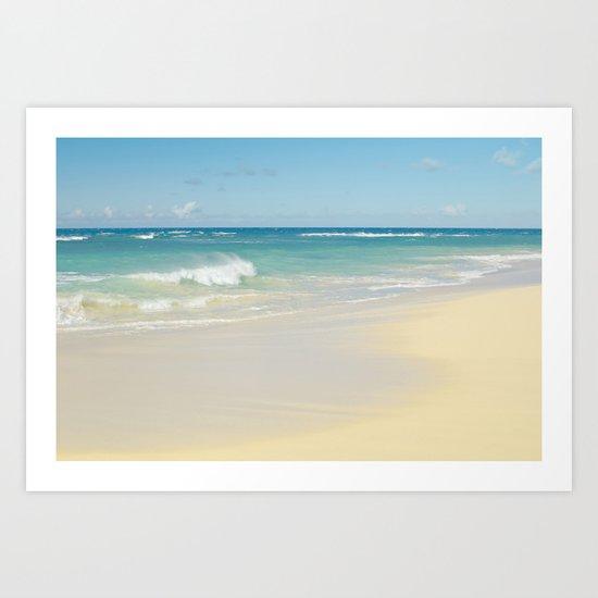 Beach Love the Secret Heart of Wonder Art Print