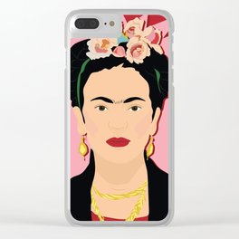 Frida Khalo (Red) | Bad Ass Women Series Clear iPhone Case
