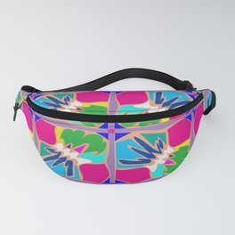 Tropical Shapes Pink Fanny Pack