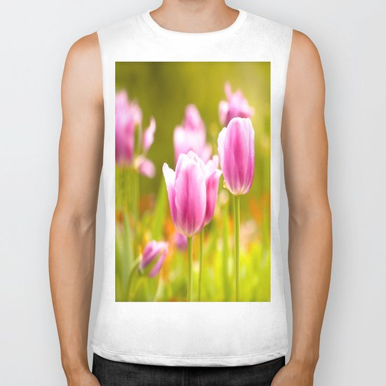 Joy Of Spring Flowers Biker Tank