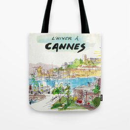 Winter In Cannes Tote Bag
