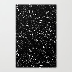 Retro Speckle Print - Black Canvas Print