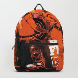 Vintage 1970s Australian Race Poster Backpack