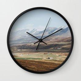 Icelandic Farm Country Wall Clock