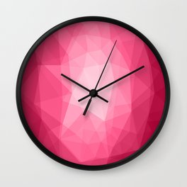 Geometric Polygonal Pattern 02 Wall Clock