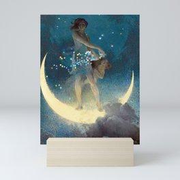 La luna, Spring Scattering Colored Stars constellation landscape painting by Edwin Blashfield Mini Art Print
