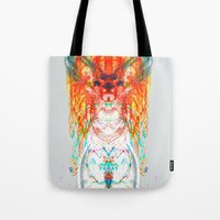 dream catcher Tote Bags featuring Dream Catcher by Renaissance Youth