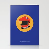 2001 a space odyssey Stationery Cards featuring Dave's Helmet - 2001: A Space Odyssey by Matt Dunne