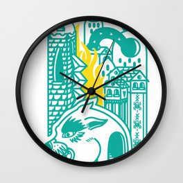 Burn it all/tiger Wall Clock