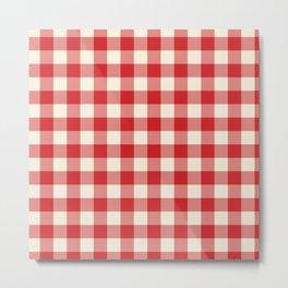Buffalo Plaid Rustic Lumberjack Red and White Check Pattern Metal Print