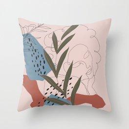 Abstract Line Art Throw Pillow