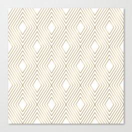 Elegant Geometric Gold Pattern Illustration Canvas Print