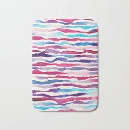 Twilight Zebra Chevron Bath Mat