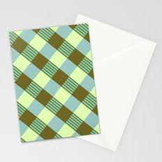 Retro Plaid Stationery Cards