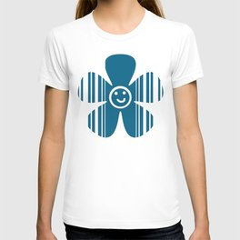 Egyptian Blue and white stripes T-shirt