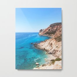 236. Perfect Beach, Greece Metal Print