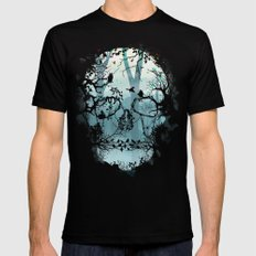 Dark Forest Skull Mens Fitted Tee Black X-LARGE