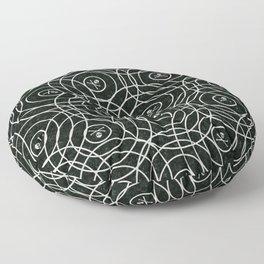 Random Rings Silver Floor Pillow