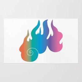 Rainbow Flame of God's Wrath Rug