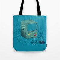 video game Tote Bags featuring Old Video Game Console by ellygeh | Elly Medeiros