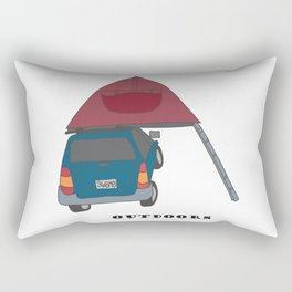 Camping Outdoors Digital Art Rectangular Pillow