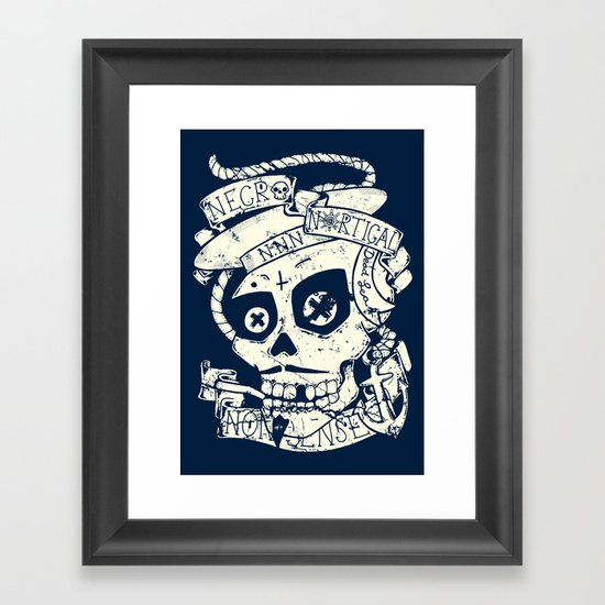 Necro Nautical Nonsense  Framed Art Print