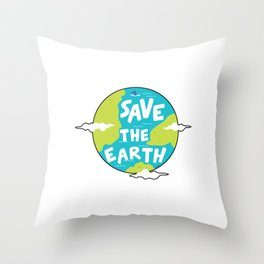 Climate Change Save The Earth Environment Gift Throw Pillow