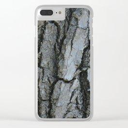 TEXTURES -- Fremont Cottonwood Bark Clear iPhone Case