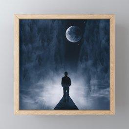 Blue Dream Night Framed Mini Art Print
