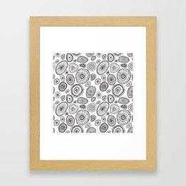 Black and White Eggs Framed Art Print