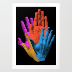 Throwing It All Away Art Print