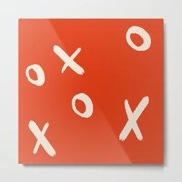 X and O Metal Print