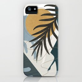Abstract Tropical Art II iPhone Case