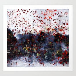 Red Snow Art Print