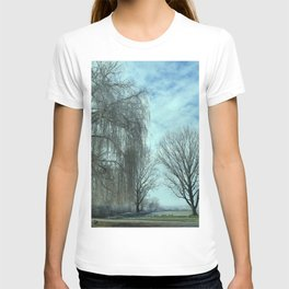 """""""Photography of Nature"""" Soccer Field with Willow in Winter at Piliscsev, Hungary T-shirt"""