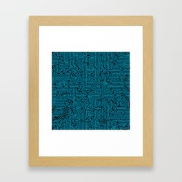 Reboot BLUE Framed Art Print